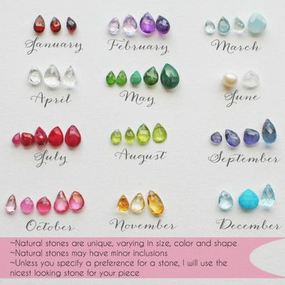 Piccola Jewelry Birthstone Options