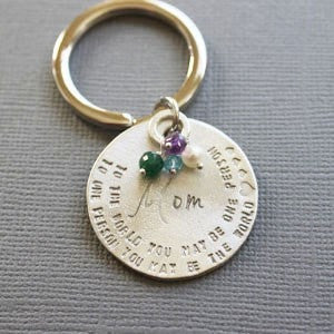 Mother's Key ring with Birthstones
