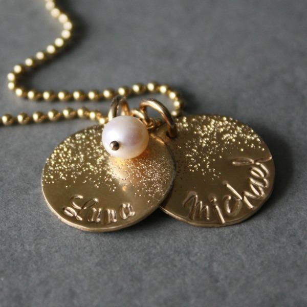 Gold Baby Name Necklace