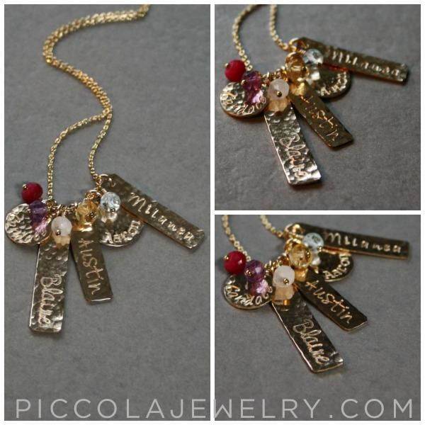 Gold Charm Necklace for 1 2 3 4 5 6 Kids