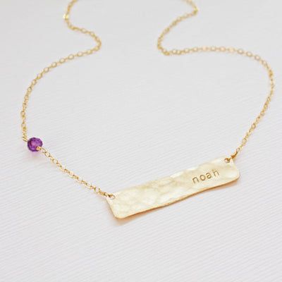 Name Plate Necklace with Baby Name