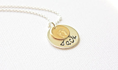 Personalized Two Tone Mommy Jewellery