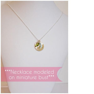 Piccola Jewelry Two Toned mothers necklace with birthstones