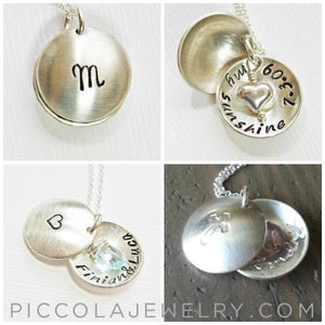 Silver Birthstone Remembrance Twins Locket