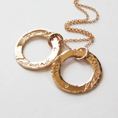 Modern Circle Ring Washer Necklace