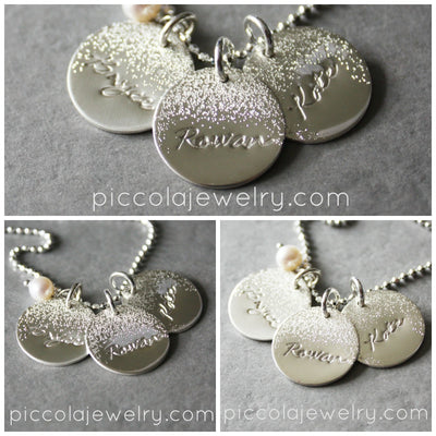 Moon & Stars Kids Name Necklace