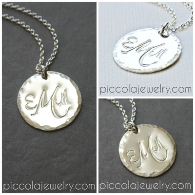 New Bride Monogram Initials Necklace