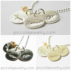 Silver Custom Charm Necklaces
