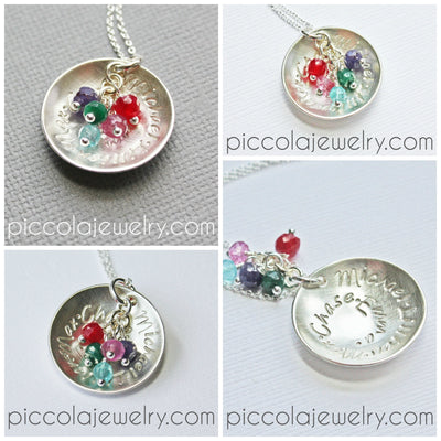 Personalized Silver Family Necklace