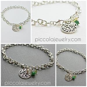 Silver Tree Charm bracelet for Grandmother
