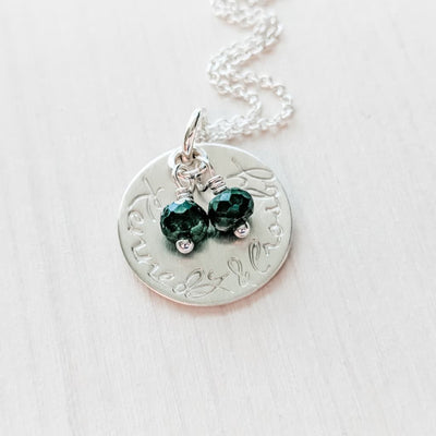 Mom Necklace with Kids Names and Birthstones - Gift for Wife Mother Push Present