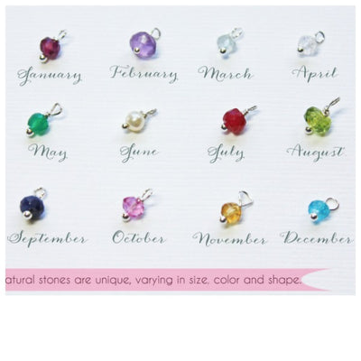 Piccola Jewelry Birthstone Choices