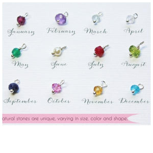 Birthstone Charms Piccola Jewelry Canada
