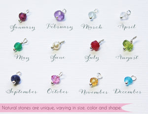 Personalized Nameplate Bracelet with Birthstone or Heart Charm