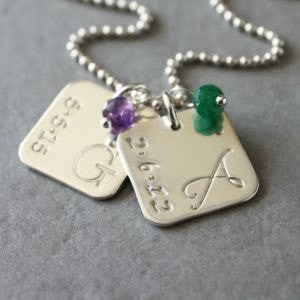 Birthstone Mothers Necklace
