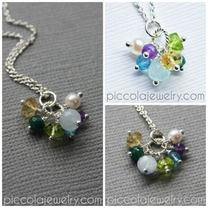 Grandmother's Necklace with Birthstones