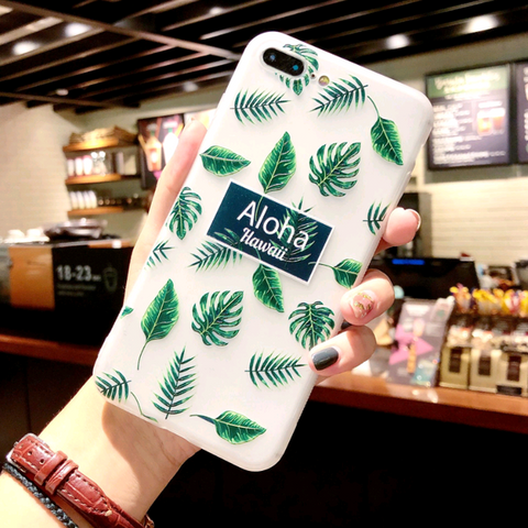 iPhone Cases Flower Green Leaf-Letter green leaf-iPhone 8/7-