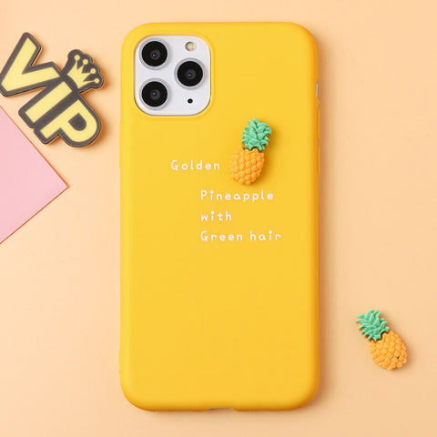 iPhone 11 Pro Case <br> Pineapple Yellow