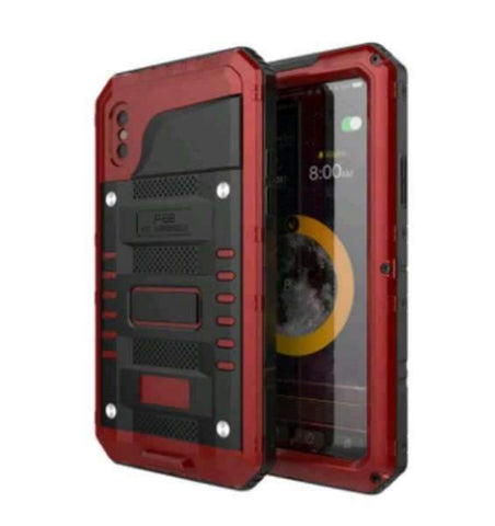 iPhone Case Metal Waterproof-Red | KazerCase