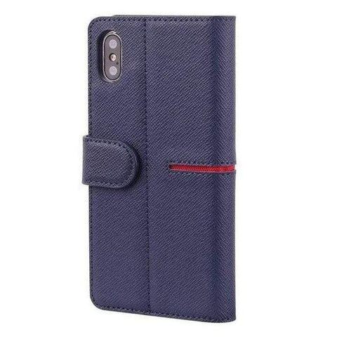 iPhone Case Premium Leather-Blue | KazerCase