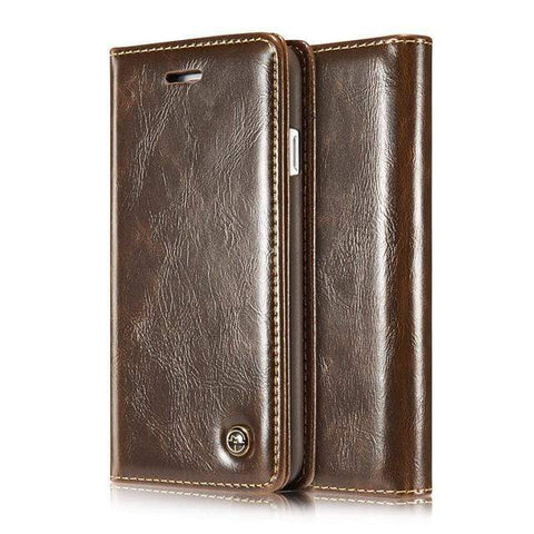 iPhone Case Prestige Leather-Brown | KazerCase