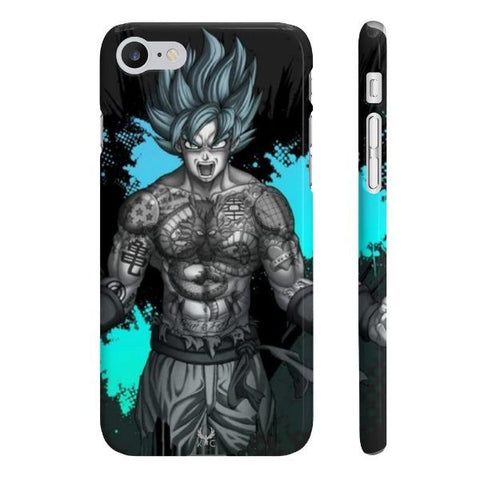 iPhone Cases Anime Super Saiyan Blue-iPhone 7, iPhone 8