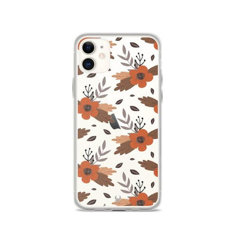 iPhone Cases Clear Autumn Floral-iPhone 11