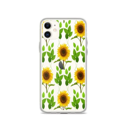 iPhone Cases Clear Big Sunflower-iPhone 11