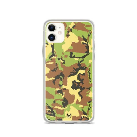 iPhone Cases Clear Camo Green-iPhone 11