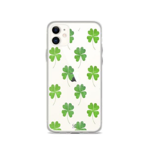 iPhone Cases Clear Four Leaf Clovers-iPhone 11