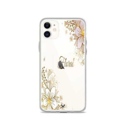 iPhone Cases Clear parkling Floral-iPhone 11