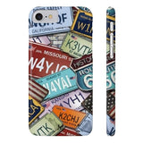 iPhone Cases Cool Usa License Plates-iPhone 7, iPhone 8