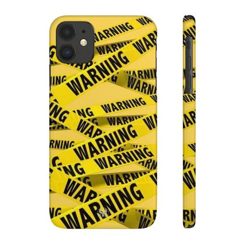 iPhone Cases Cool Warning Banner-iPhone 11
