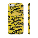 iPhone Cases Cool Warning Banner-iPhone 6 Plus & 6s Plus