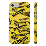 iPhone Cases Cool Warning Banner-iPhone 7, iPhone 8