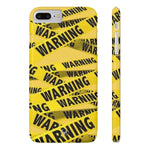 iPhone Cases Cool Warning Banner-iPhone 7 Plus, iPhone 8 Plus