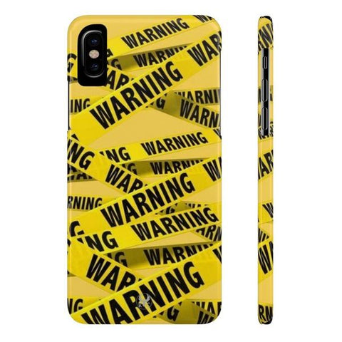 iPhone Cases Cool Warning Banner-iPhone X