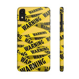 iPhone Cases Cool Warning Banner-iPhone Xr