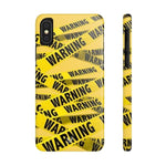 iPhone Cases Cool Warning Banner-iPhone Xs