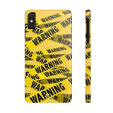 iPhone Cases Cool Warning Banner-iPhone Xs Max