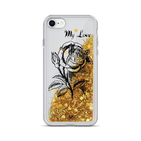 iPhone Cases Glitter love petals-iPhone 7, iPhone 8-