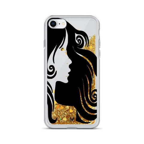 iPhone Cases Glitter Poetic Beauty-Gold-iPhone 7, iPhone 8