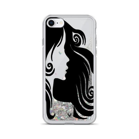 iPhone Cases Glitter Poetic Beauty-Silver-iPhone 7, iPhone 8