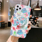 iPhone Cases Laser Colorful Flower-Laser Blue-IPhone 7/8plus-
