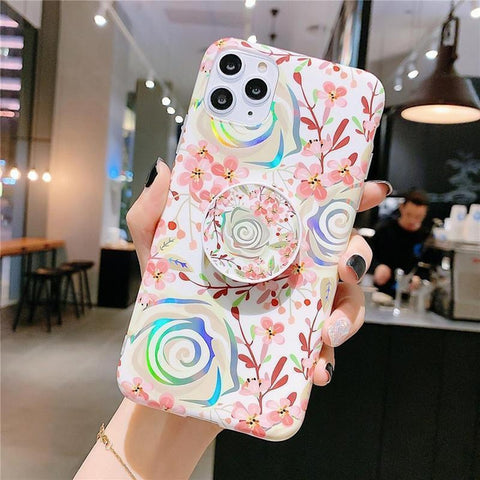 iPhone Cases Laser Colorful Flower-Laser Pink-Iphone X/Xs-