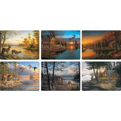 Cabin Scenes Cutting Board Assorted Priced Each