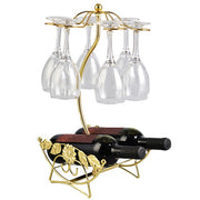 Iron Wire Maple Leaf Hollow Wine Rack