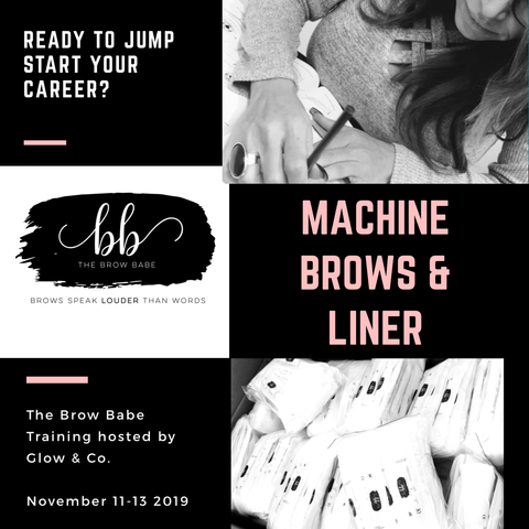Learn from the best. Sarah Stone Reynolds, Master Trainer and owner of The Brow Babe- will be making a trip to Canada. Glow & Co is thrilled that we will be the hosts of Sarah's training program. This course will equip you with the knowledge, technique and hands-on training needed to be a successful Permanent Makeup Artist. PMU Machine Included in course. cost $3500 CAD