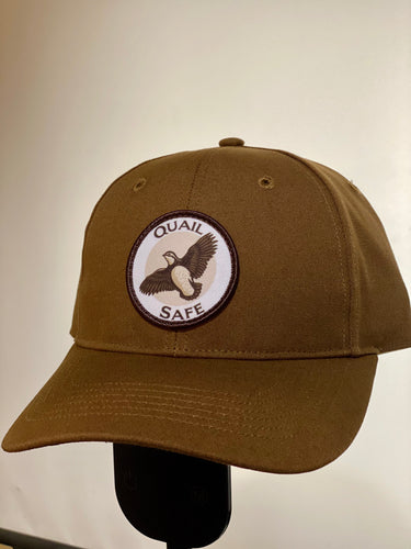 Quail Safe Brown Duck Cloth Canvas Hat