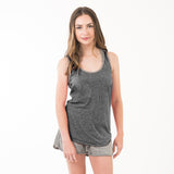 Womens Racerback Tank True Black